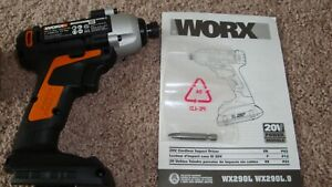 "WORX WX290L.9 20V Lithium Cordless 1/4"" Impact Driver NO Battery NO Charger"