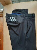 "Adidas Golf Trousers,Black Ultimate 365 3 stripes tapered  34"" W 32""Reg leg."