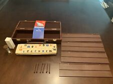 Vintage 1982 Pressman Tournament RUMMIKUB Tile Game with Carry Case