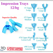 Dental Impression Trays Perforated Plastic Disposable Choose Size 12 Traysbag