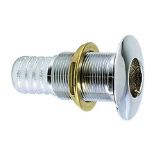 """Perko 3/4"""" Thru-Hull Fitting f/ Hose Chrome Plated Bronze MADE IN THE USA"""