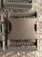 25 Gray Fastening Plastic Strap Belt Buckle 2 Inch Military Surplus Strong USA