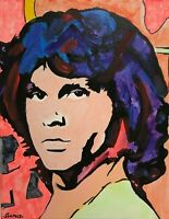 Painting of Jim Morrison Rock Musician Light My Fire Rock Icon Singer-Songwriter