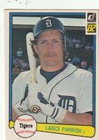 FREE SHIPPING-MINT-1982 Donruss Lance Parrish Detroit Tigers 281 +BONUS CARDS