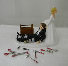 Wedding Reception Mechanic Tools Grease Tire Tool Drunk Cake Topper Shop Garage