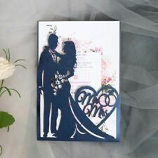 Wedding Invitations Cards Greeting Bride And Groom Hollow Laser Cut Single-page