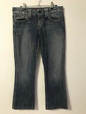 Guess Jeans Size 10 / US28 Mid Rise Boot Cut Denim Detail Pink Dot Pockets