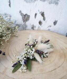 Vintagelook Blumen Haarkamm Kopfschmuck Mille Fleurs Schleierkraut Lavendel