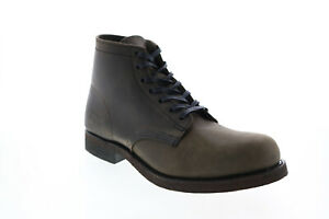 Frye Prison Boot 80906 Mens Gray Leather Lace Up Chukkas Boots 7.5