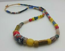 """Vintage African Trade beads necklace Glass 28"""""""