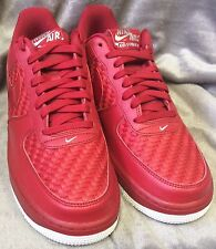 Mens Nike Air Force 1 '07 LV8 Gym Red Summit White Chrome 718152-605 SIZE 8