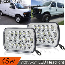 "For Ford E-150 E-250 E-350 H6054 7x6"" LED Headlight Sealed Beam Square Headlamp"
