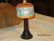 Avon Tiffany Lamp Decanter, 'Moon Wind' Cologne, 5 0z bottle, 31203 stamped