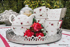 Clayre & Eef Cerámica Taza de café taza m. Jarra taza rojas Rosas LPRMU