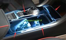 Blue Stainless Gear Shift Frame Cover Trim For Ford Fusion Mondeo 2017-2018