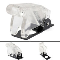 1PCS Toggle Switch Boot Plastic Safety Flip Cover Cap 12mm Clear White SS
