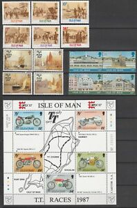 IoM Collection F, FOUR Sets/Issues MNH, SG cat = £11+