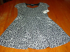 Girls Size 10 Amy Byer Animal Print Short Sleeve Dress    NWT