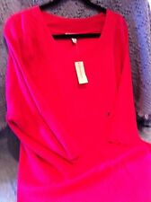 NOS DRESSBARN PINK 3/4 LENGTH SLEEVE SWEATER SIZE 3XL