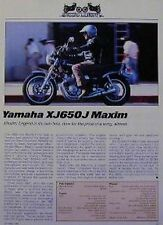 YAMAHA XJ650 J MAXIM & KAWASAKI KZ550 LTD Articles 1983