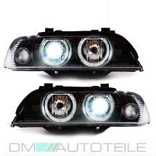 BMW E39 Angel Eyes Xenon Scheinwerfer Set Schwarz D2S Qualitätsware+Blinker weiß