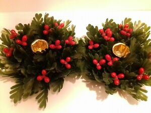 pair of vintage, kitch 1950's?  plastic  Christmas candle holders. fabulous!