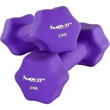 Movit Juego de 2 2,0 kg Neopreno Pesa PESOS Conjunto Fitness