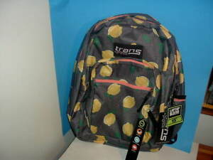 TRANS BY JANSPORT BACKPACK WITH LAPTOP SLEEVE NEW LEMONS