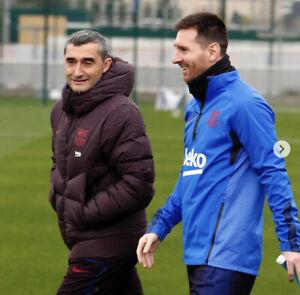 Nike zonal aeroshield raincoat 2020 FC Barcelona training version player Messi