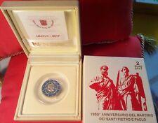 VATICANO: 2 Euro Commemorativo 2017 1950° Ann. Martirio Pietro e Paolo PROOF PP