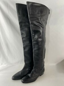 Piampiani Italian Leather Over-the-knee Women's Boots 39 US 9 Made In Italy
