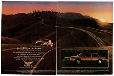 1985 BUICK Electra Park Avenue Vintage Original 2 page Print AD Red car photo CA