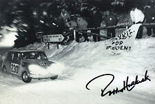 "Rally Driver Paddy Hopkirk Hand Signed Photo Autograph Mini 12x8"" BB"
