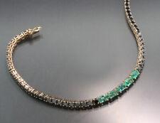 Bracciale Tennis Smeraldi E Diamanti 5,85 Carati 750-Roségold Valore