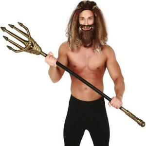 Neptune Gold Trident God of the Seas Fork Halloween Fancy Dress Accessory