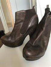 Allsaints Brown Platform Heel Boots EU 39