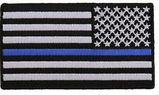 """USA Flag Blue Line 3"""" Patch Reverse American Flag Thin Blue Line Patch FAST SHIP"""