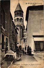 CPA  Brioude - Le Clocher de l'Egise St-Julien -Vue prise de la Place de(586046)