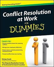 Conflict Resolution at Work For Dummies, Scott, Vivian, Good Book
