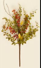 Bittersweet Primitive FALL BABY GRASS BRANCH YELLOW RED BERRIES Twig Spray Pick