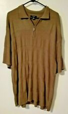 Vintage Alfani Mens Polo 1/4 zip Short Sleeve textured collared Shirt Size XXL