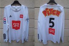 Maillot S.M CAEN porté n°5 COUPE de FRANCE 2006 ADIDAS blanc SFR PITCH XL