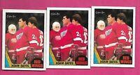 3 X 1987-88 OPC # 123 WINGS ADAM OATES  ROOKIE CARD (INV# C7612)