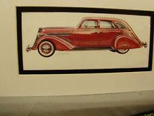1935 Nash Ambassador      Artist Auto Museum Full color Artist Illustrated