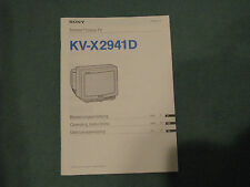 BEDIENUNGSANLEITUNG SONY KV - X 2941 D
