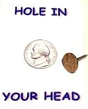 Funny Hole In Your Head Nickel Prank Nail Spike Magic Trick Joke Coin Gag Pocket