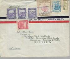 COLOMBIA 1949 TYPED COVER WITH VARIOUS STAMPS TO ENGLAND  MY REF 1888