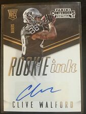 2015 Panini Contenders Rookie Ink Clive Walford Auto Rc Oakland Raiders