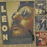 Leon der Profi Filmplakat Vintage Poster Jean Reno Film Kult Retro Wandbild neu