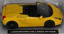 Die-Cast Yellow Lamborghini Gallardo Spyder 1:43 Scale